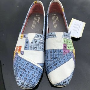Tom's Shoes - Toms Classic Slip On Shoes Blue Green Periodic